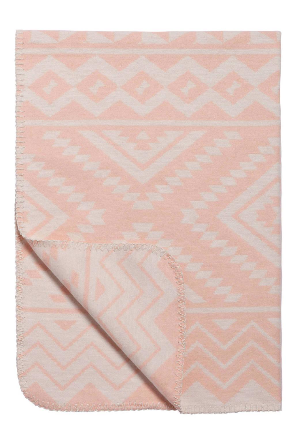 Meyco Ethnic ledikantdeken 120x150 cm perzik, Perzik