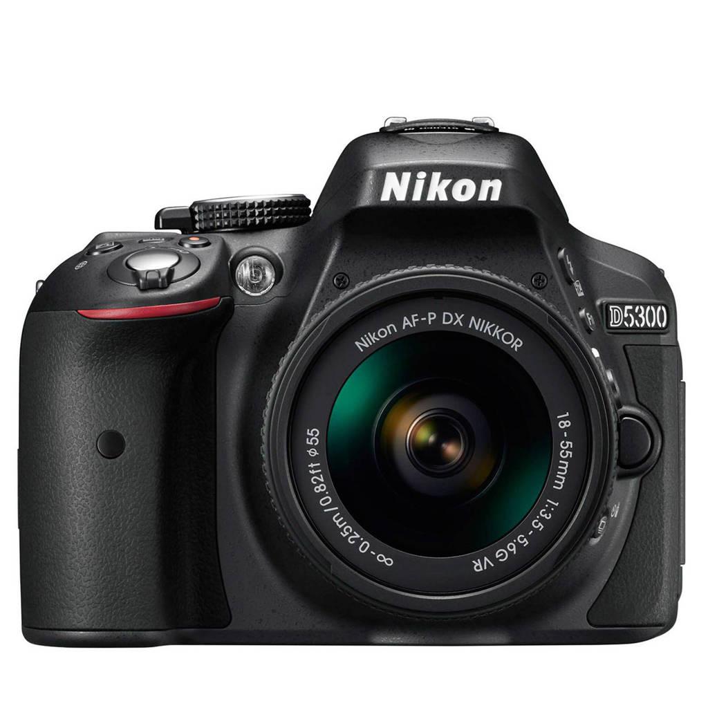 Nikon D5300 kit AF-P 18-55mm VR spiegelreflexcamera zwart