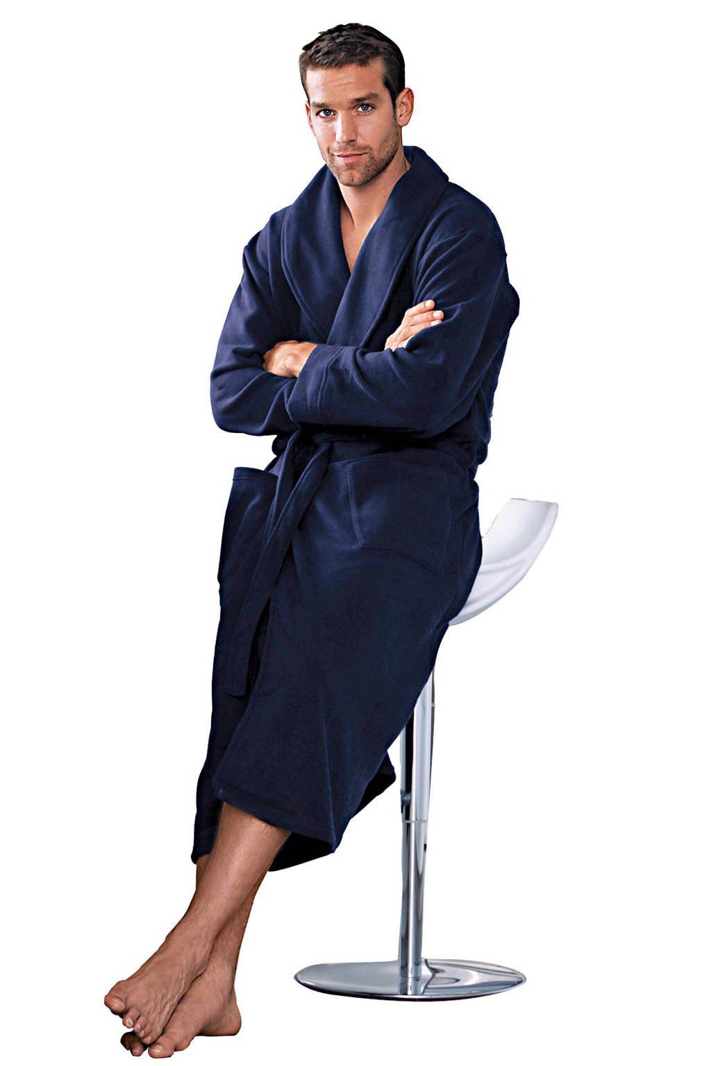 Union River fleece badjas donkerblauw, Donkerblauw
