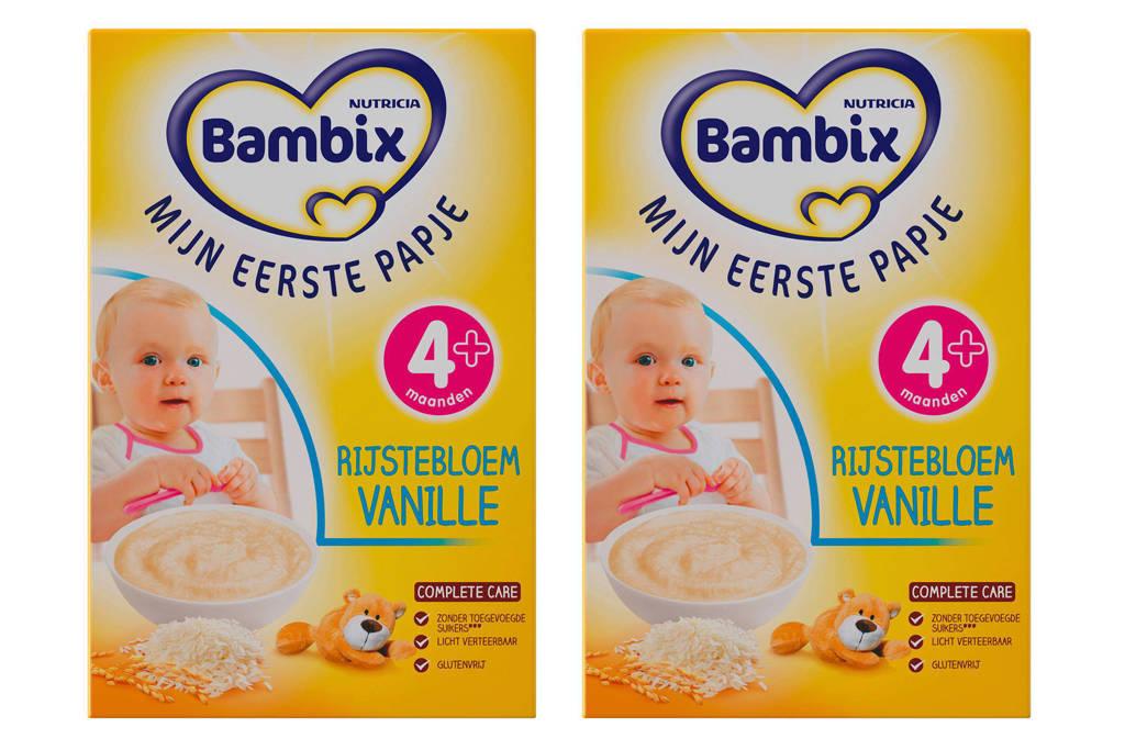 Bambix mijn eerste papje - rijstebloem vanille (2 stuks)