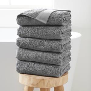 handdoek hotelkwaliteit (set van 5) (50 x 100 cm) Grijs
