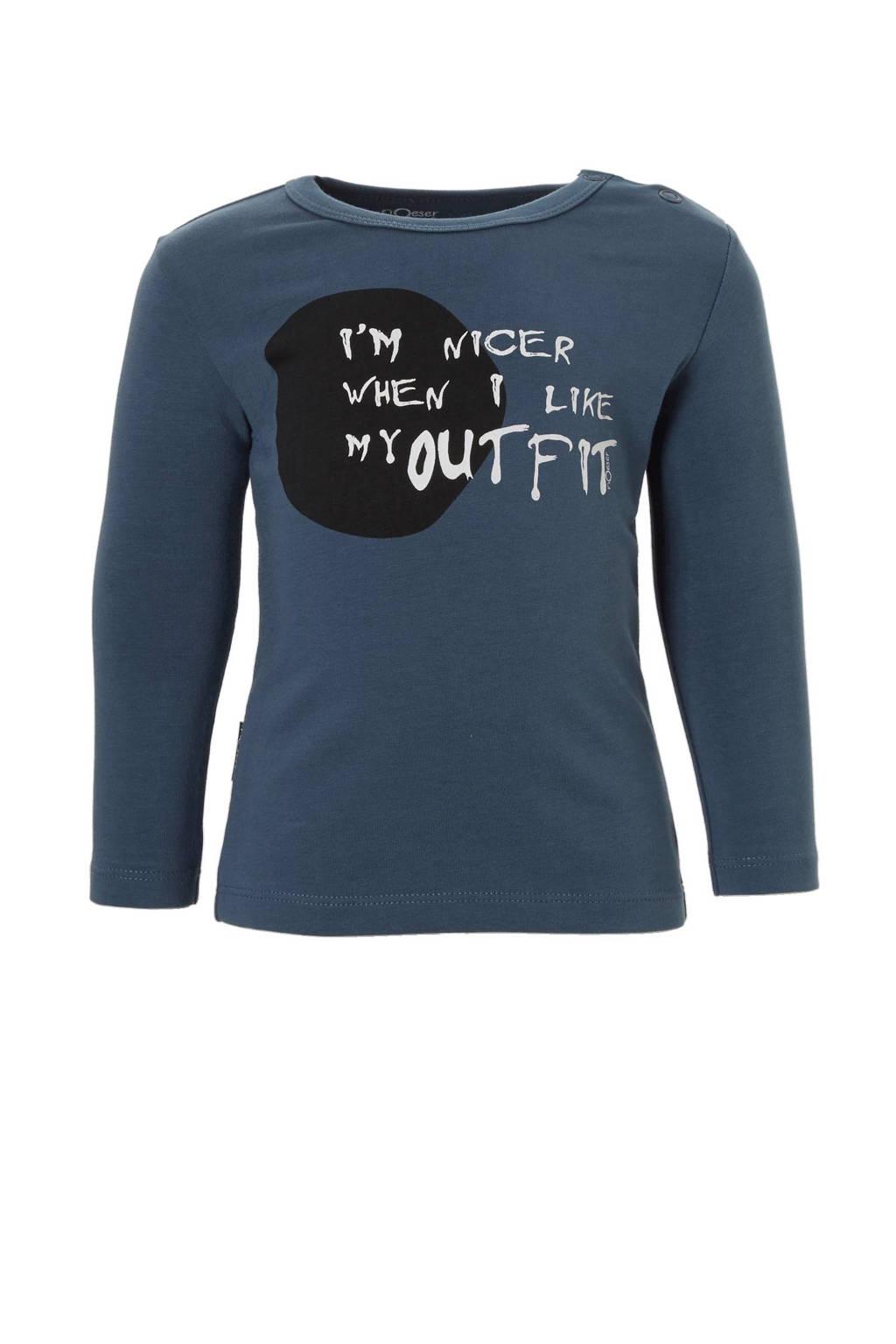 nOeser newborn T-shirt, Blauw
