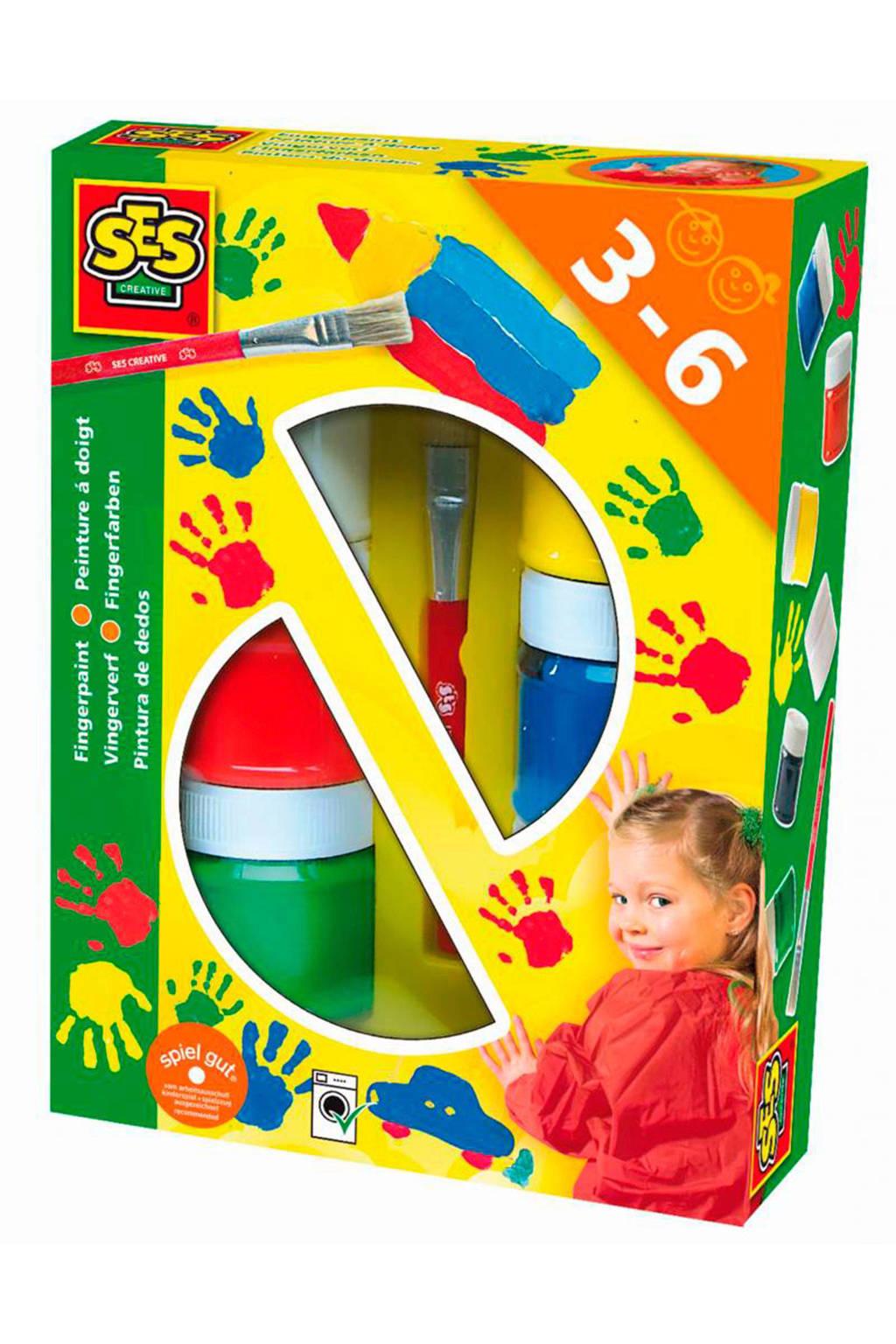 SES vingerverf 6 kleuren