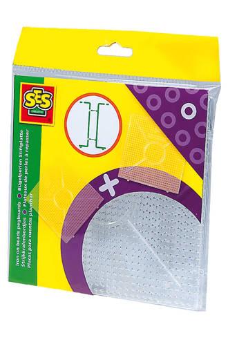 Beedz strijkkralenbordjes transparant vierkant 2 stuks