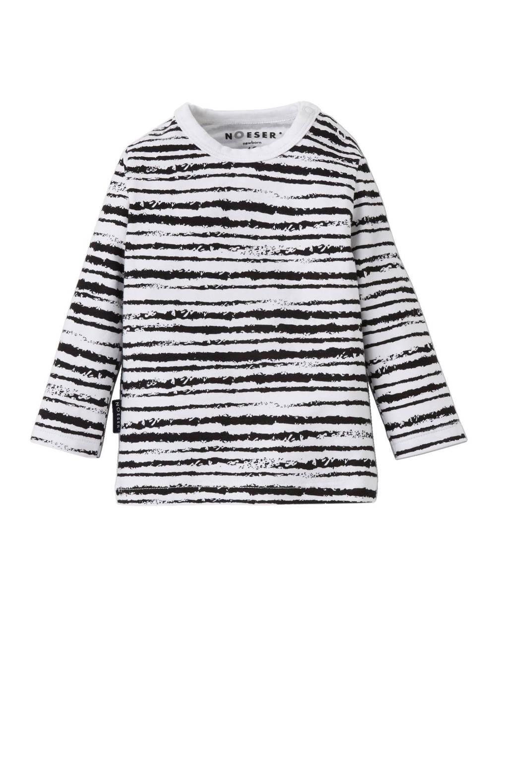 nOeser newborn T-shirt, Wit / Zwart