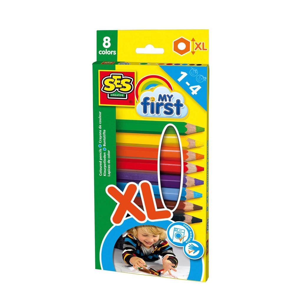 SES My first XL kleurpotloden (8 st.)