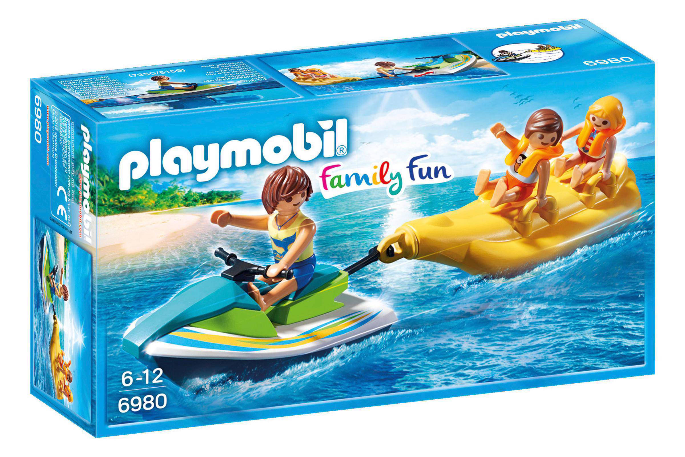 Playmobil Family Fun jetski met bananenboot 