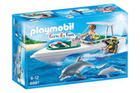 Playmobil Family Fun duiktrip met plezierboot  6981