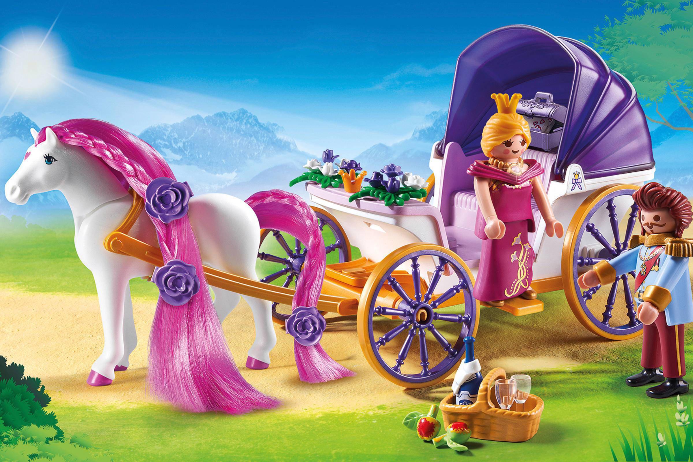 Playmobil princess koninklijke koets met paard om te kammen