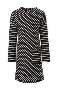 NOP jurk zwart met streepdessin, zwart / grijs