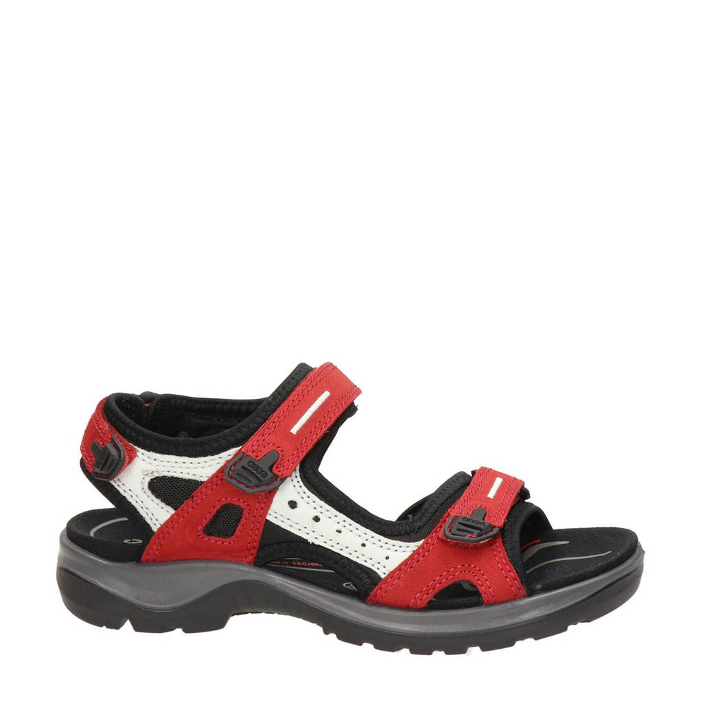 Ecco Offroad  outdoor sandalen rood/wit, Rood/wit