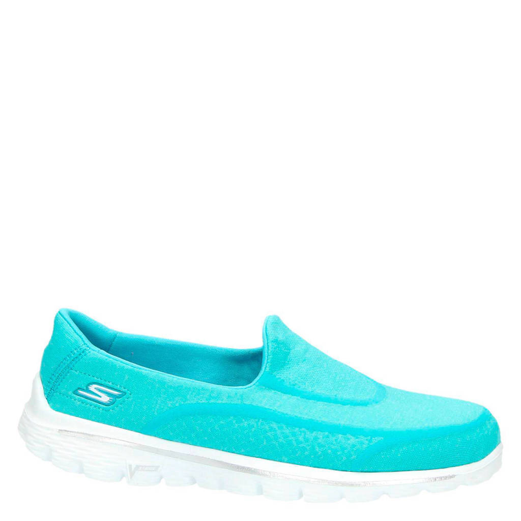 Skechers slip on, Lichtblauw
