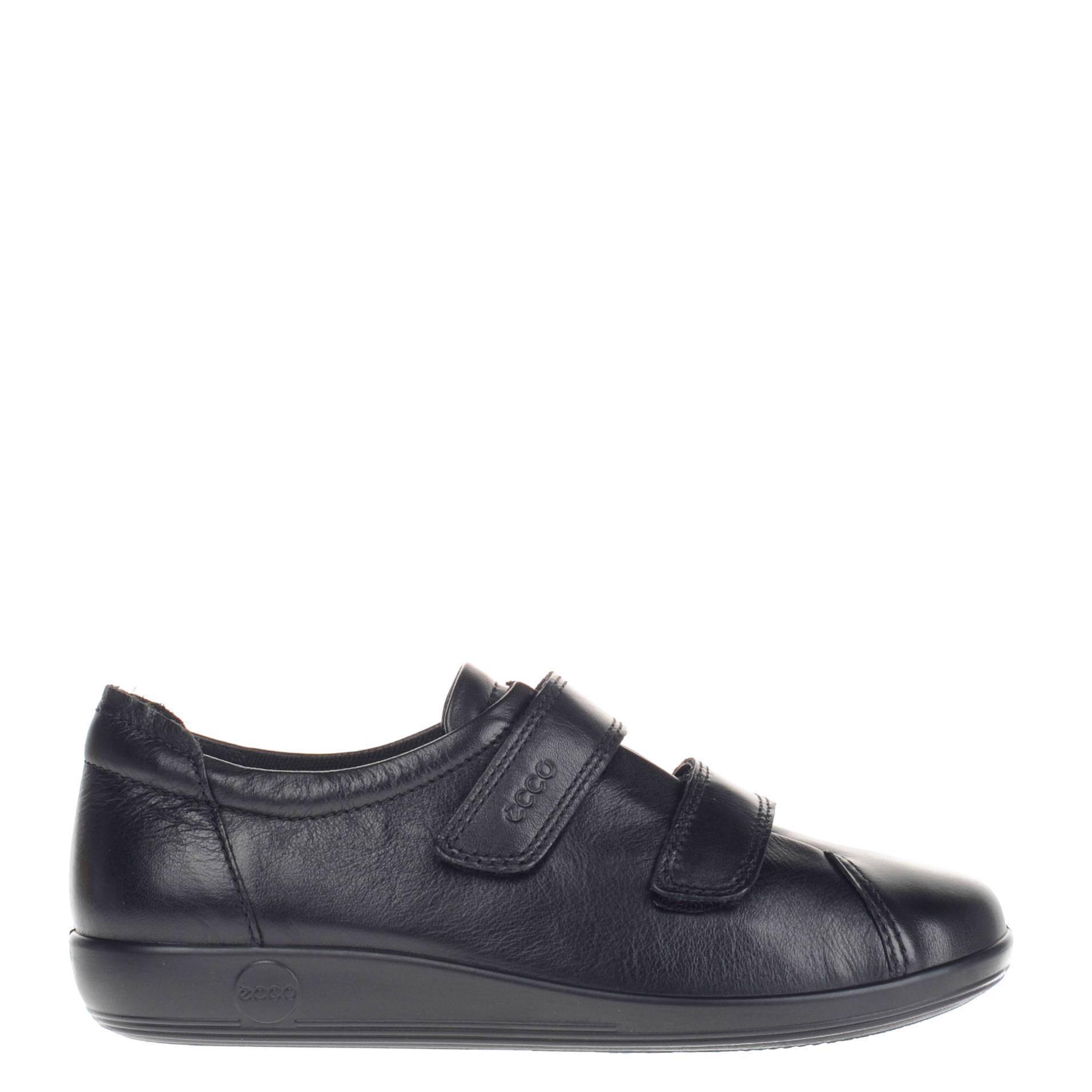 Comfort Soft 2.0 leren klittenbandschoenen zwart