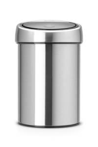 Brabantia Touch Bin 3 liter afvalemmer, Geborsteld staal