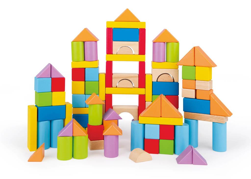 Hape houten stapelblokken 100 stuks