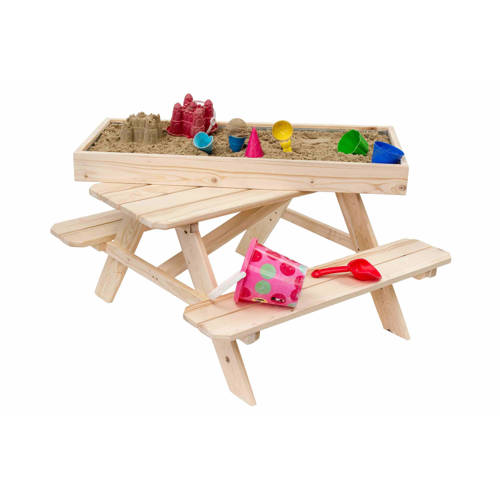 Outdoor Life Products kinderpicknick tafel met zandbak