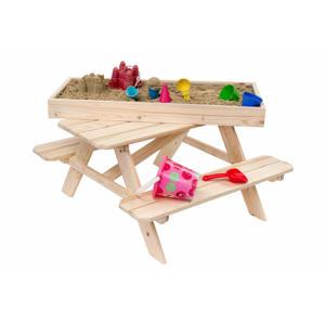 Outdoor Life Product kinderpicknick tafel met zandbak