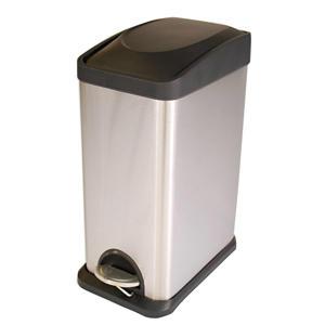 pedaalemmer  (15 liter) Zilver
