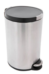 EKO Artistic pedaalemmer  (5 liter) Zilver/zwart