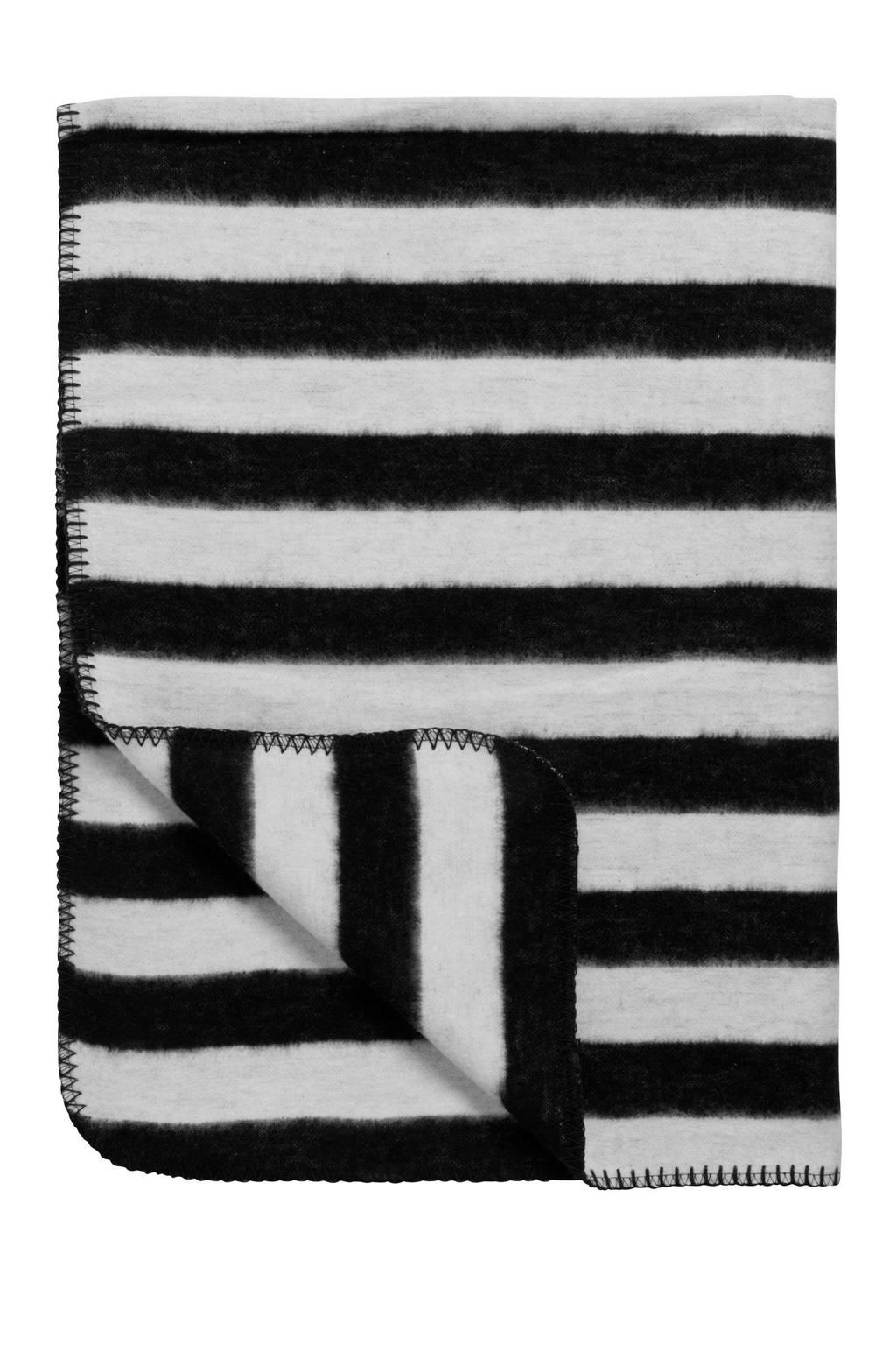 Meyco Stripe biologische wiegdeken 75x100 cm zwart/wit