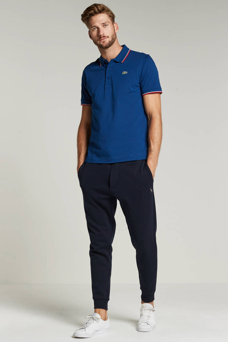 Lacoste classic fit polo, Blauw