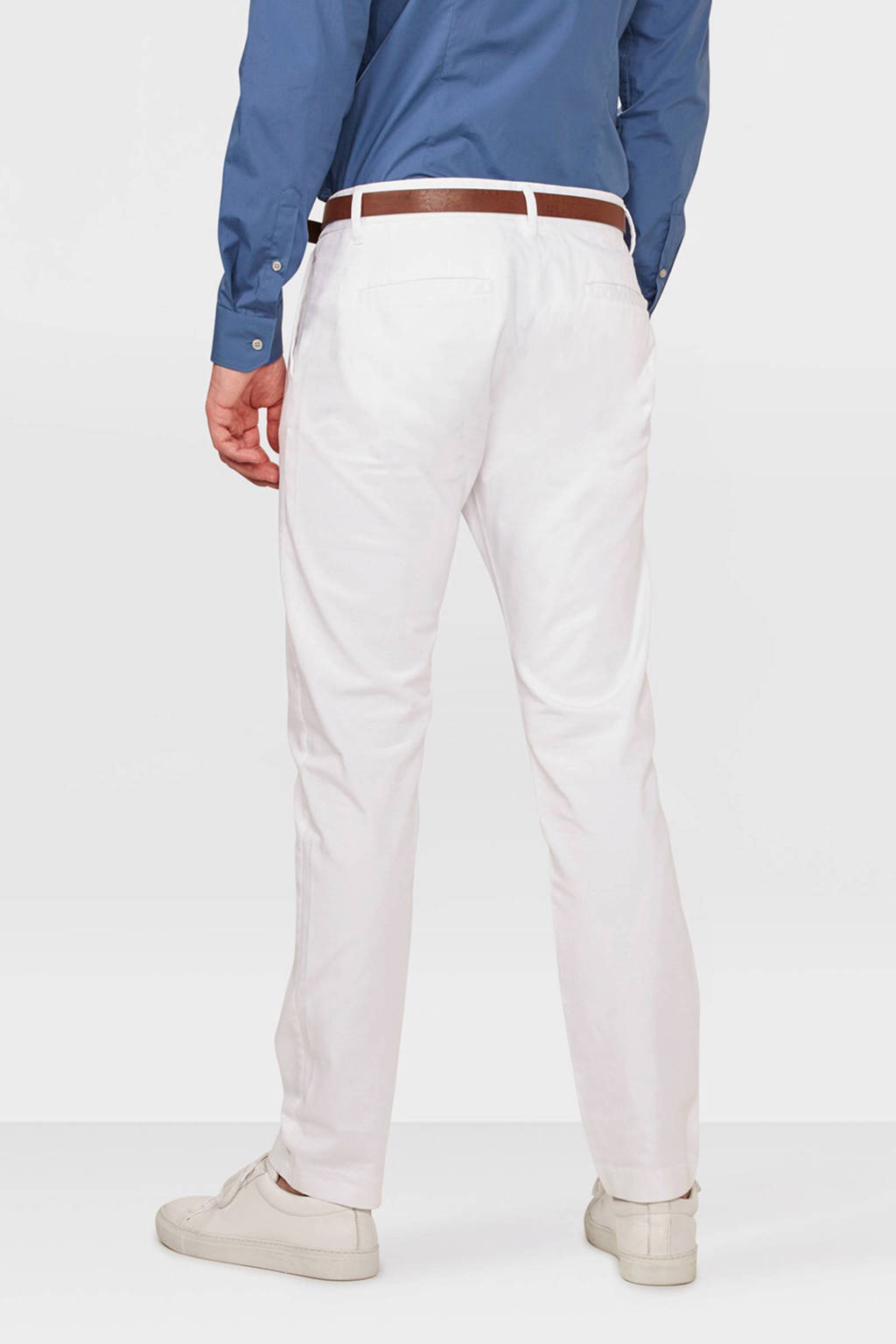 WE Fashion Blue Ridge Bobby skinny fit chino wit, Wit
