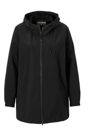 softshell jas zwart met capuchon