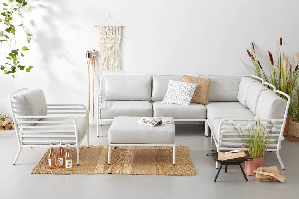 whkmp's own loungeset Breton (XL, met loungestoel), Wit/grijs