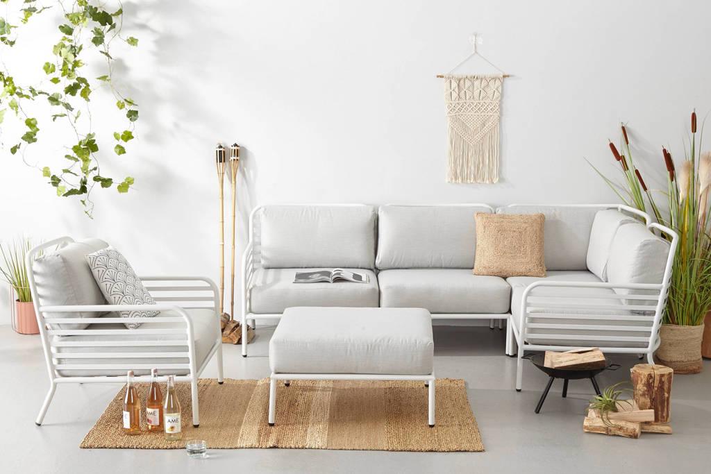 whkmp's own loungeset Breton (L, met loungestoel), Wit/grijs