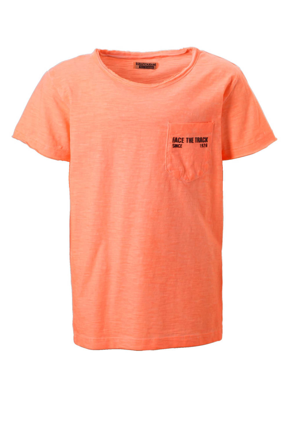 DJ Dutchjeans T-shirt, Oranje / zwart