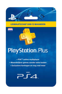 PlayStation 4 Plus voucher 365 dagen Nederland