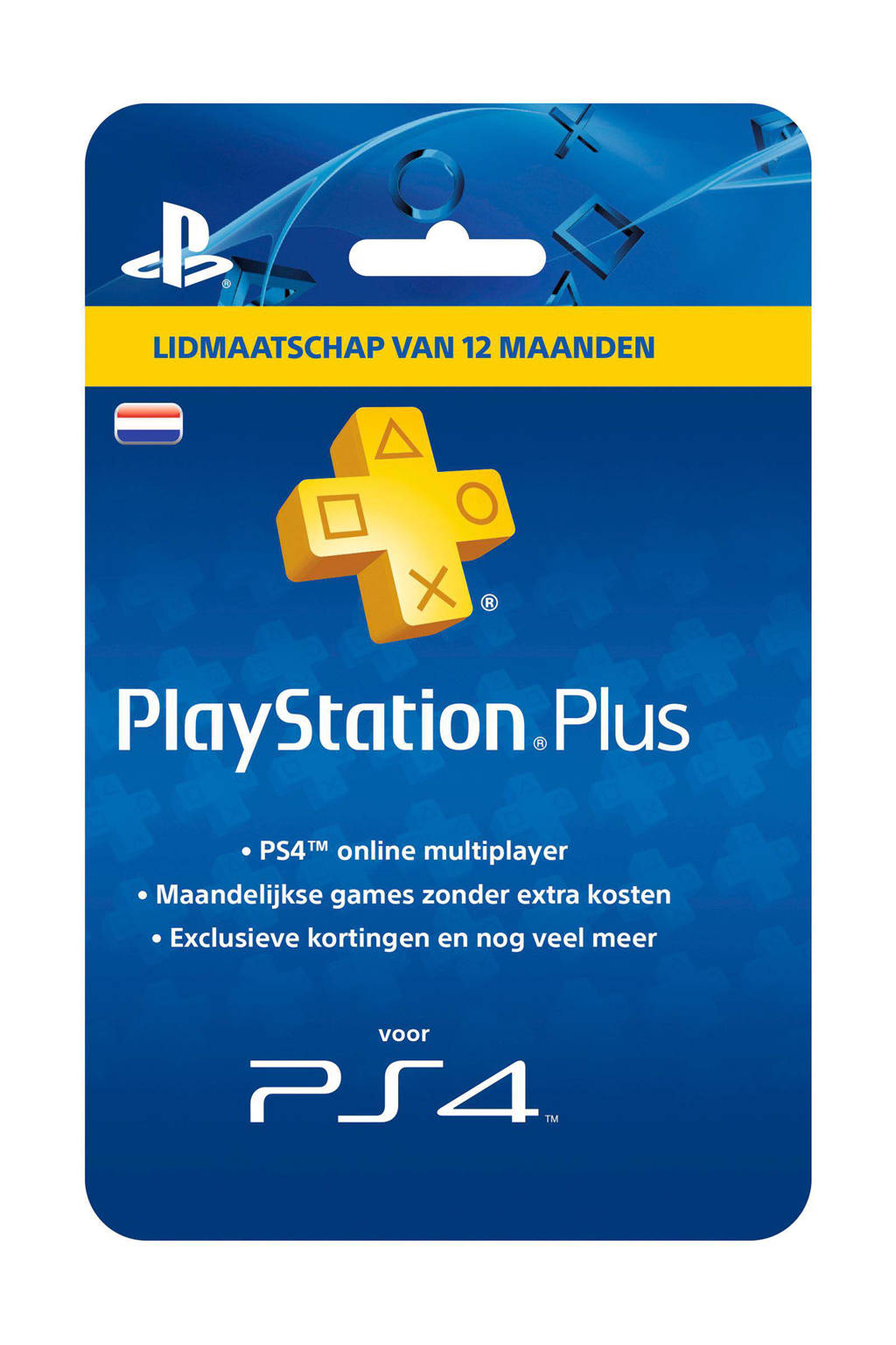 Sony PlayStation 4 Plus voucher 365 dagen Nederland