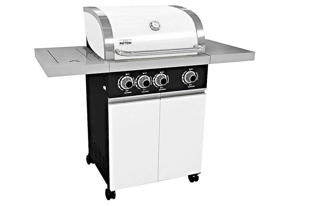 Patton Prominent 3+ gasbarbecue, Alpine White