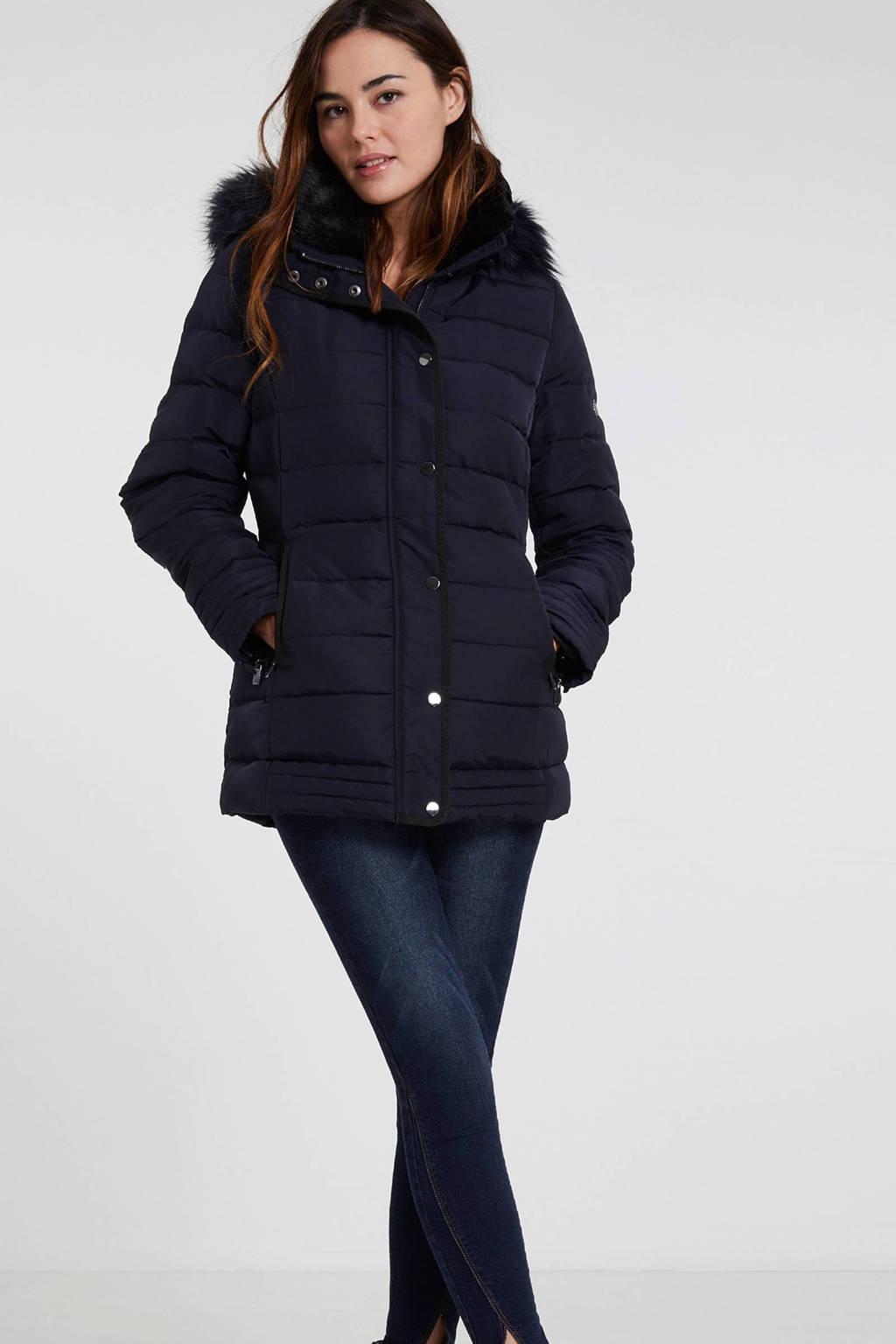 Morgan gewatteerde jas, Donkerblauw