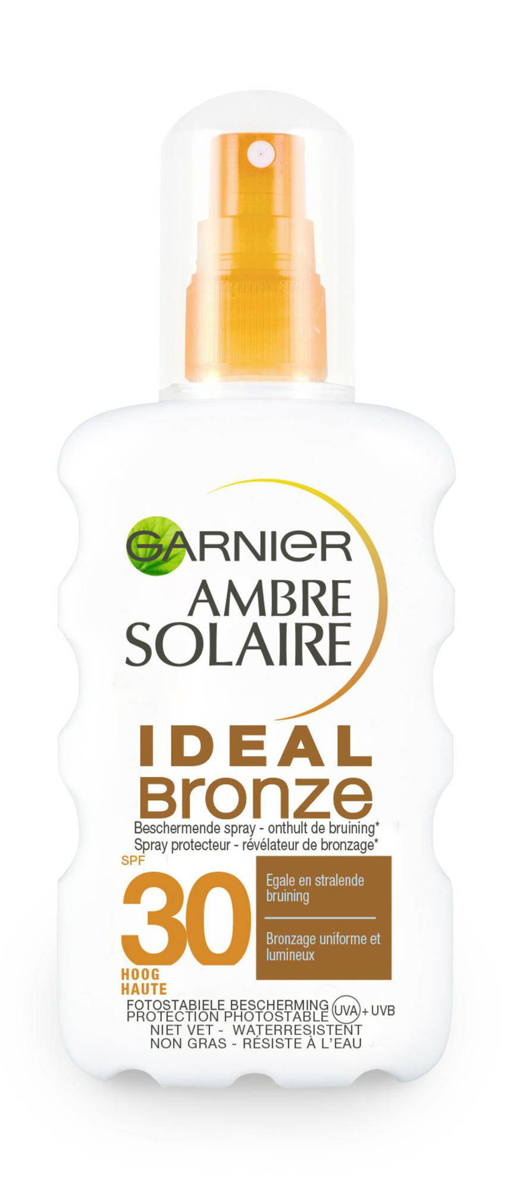 Ambre Solaire Ideal Bronze zonnebrand spray SPF 30 - 200 ml, Zonnefactor SPF 30