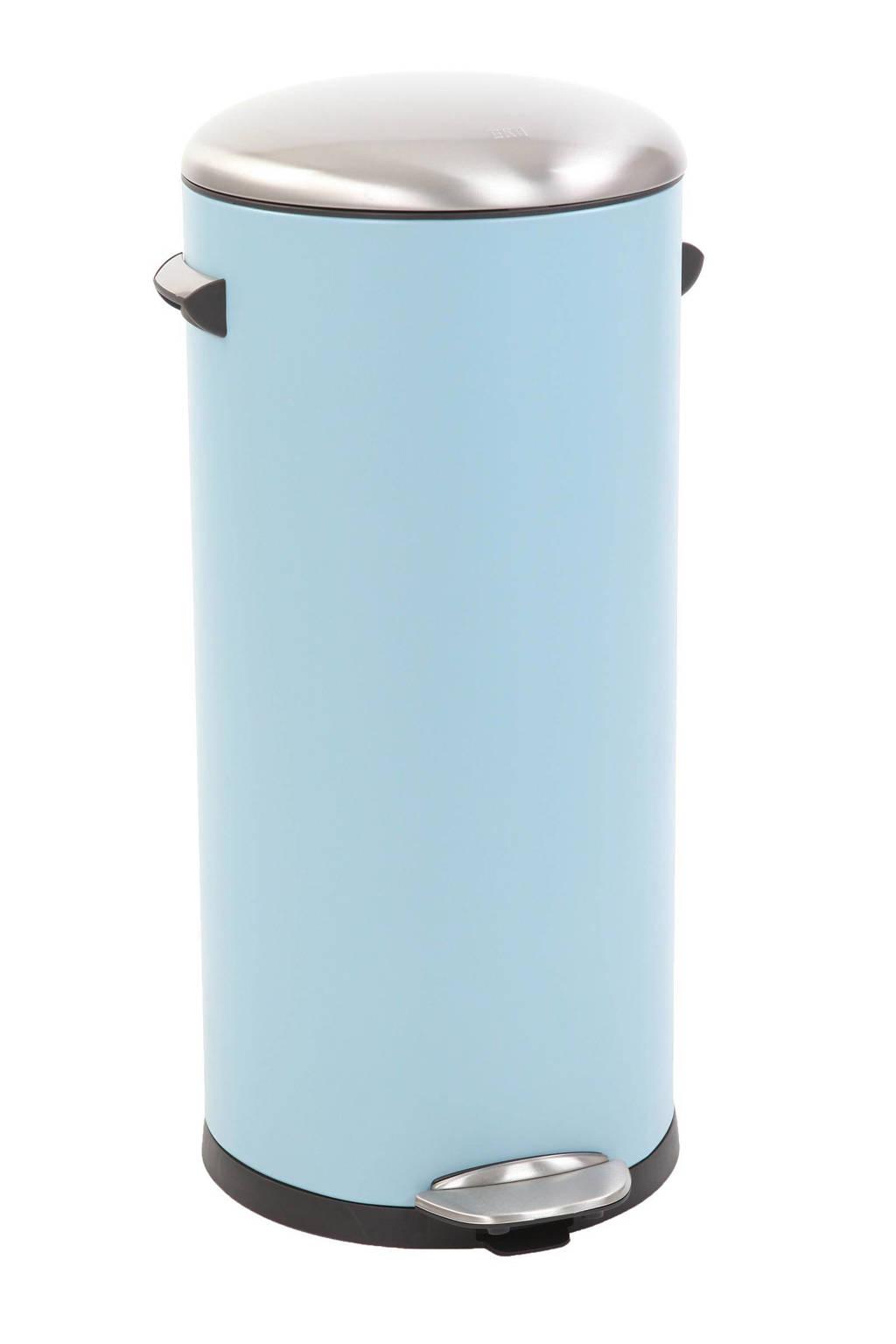 EKO Belle Deluxe Step Bin, 30 liter pedaalemmer, Lichtblauw