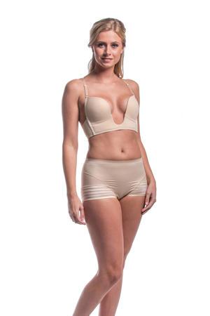 voorgevormde strapless push-up bh beige