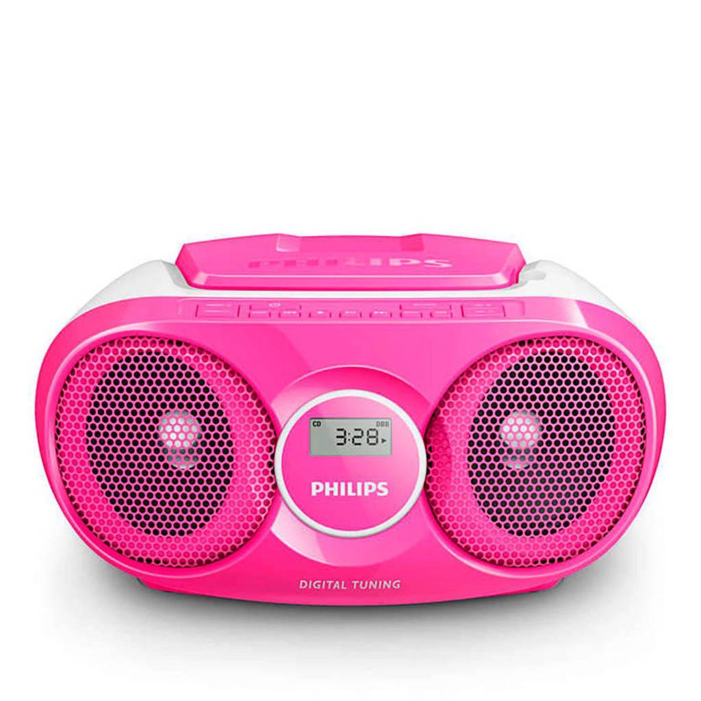 Beste Philips AZ215C/12 draagbare radio / CD speler roze   wehkamp JX-99