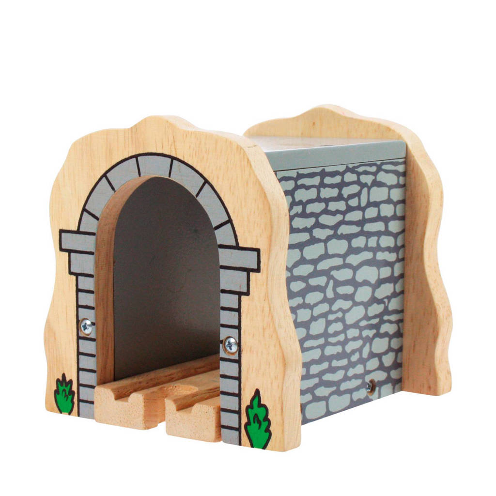 Big Jigs houten grijze stenen tunnel