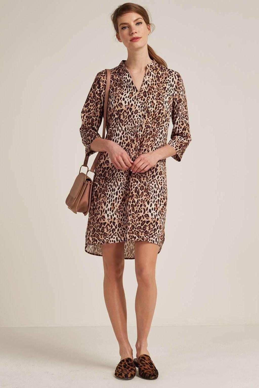 whkmp's own jurk met panterprint, Camel/zwart/bruin