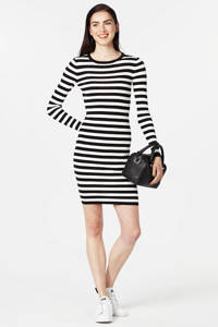 NIKKIE Jolie jurk, Zwart/wit