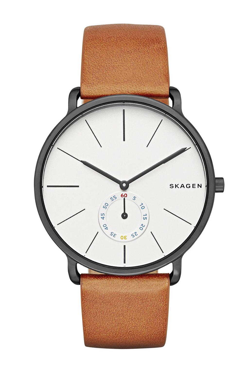 Skagen horloge, Gunmetal/Cognac