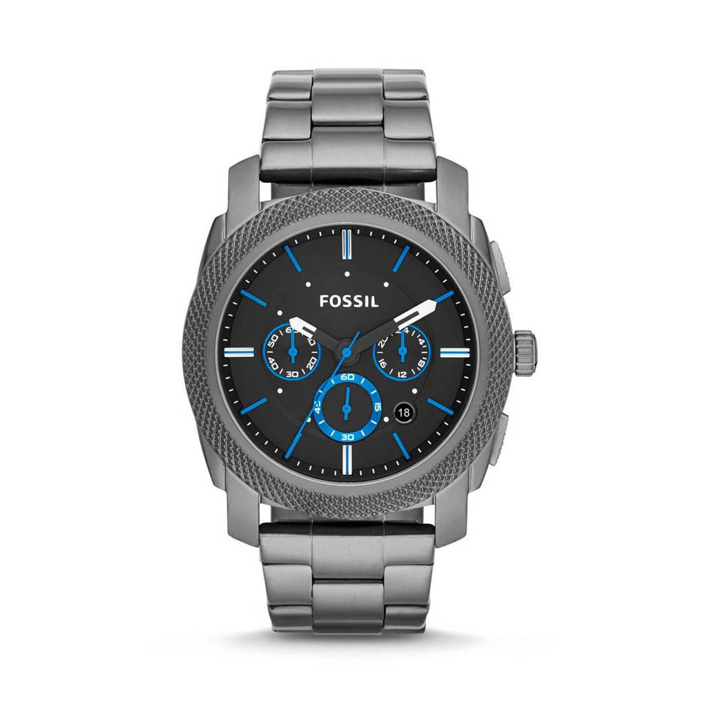 Fossil horloge Machine FS4931 antraciet, gunmetal