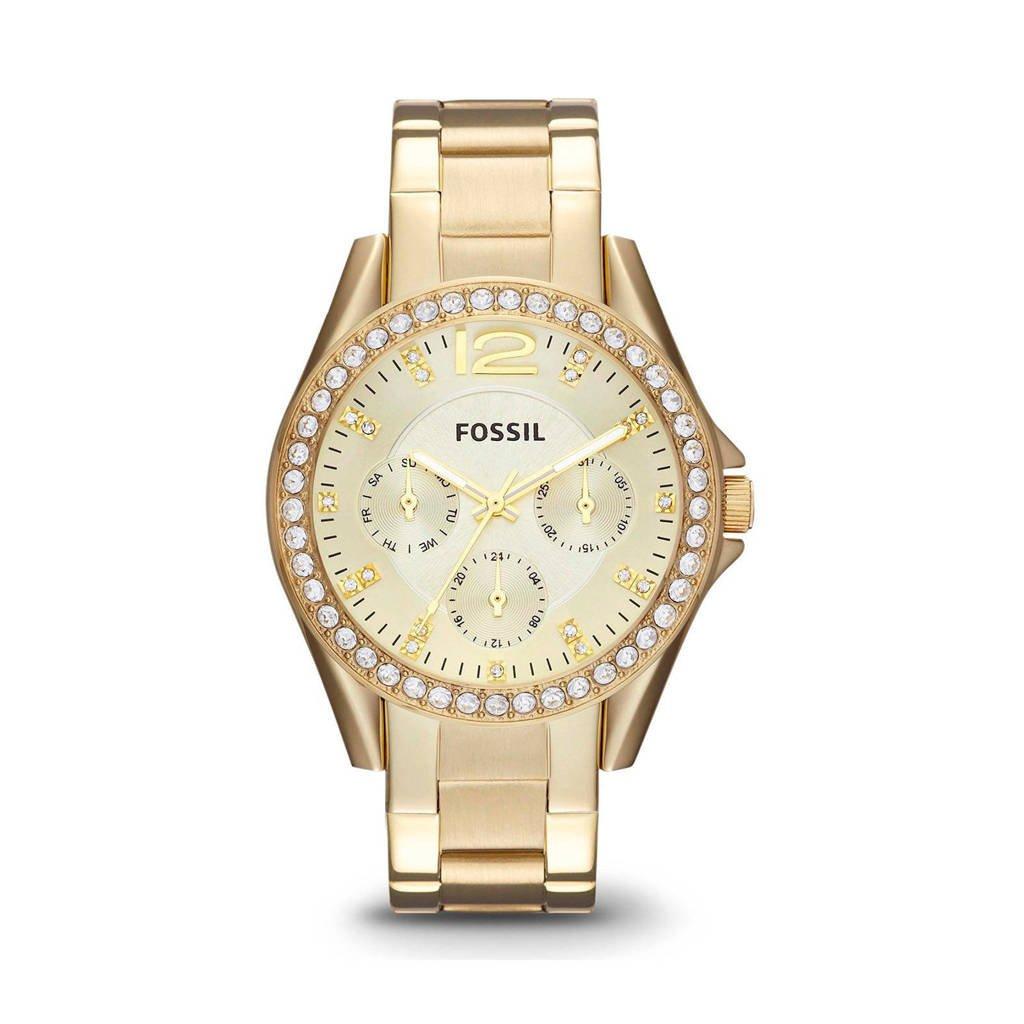 Fossil Riley Dames Horloge ES3203, Goud