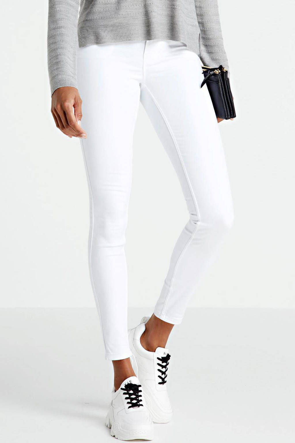 VERO MODA mid waist shape-up slim fit jeans VMSEVEN bright white, Wit