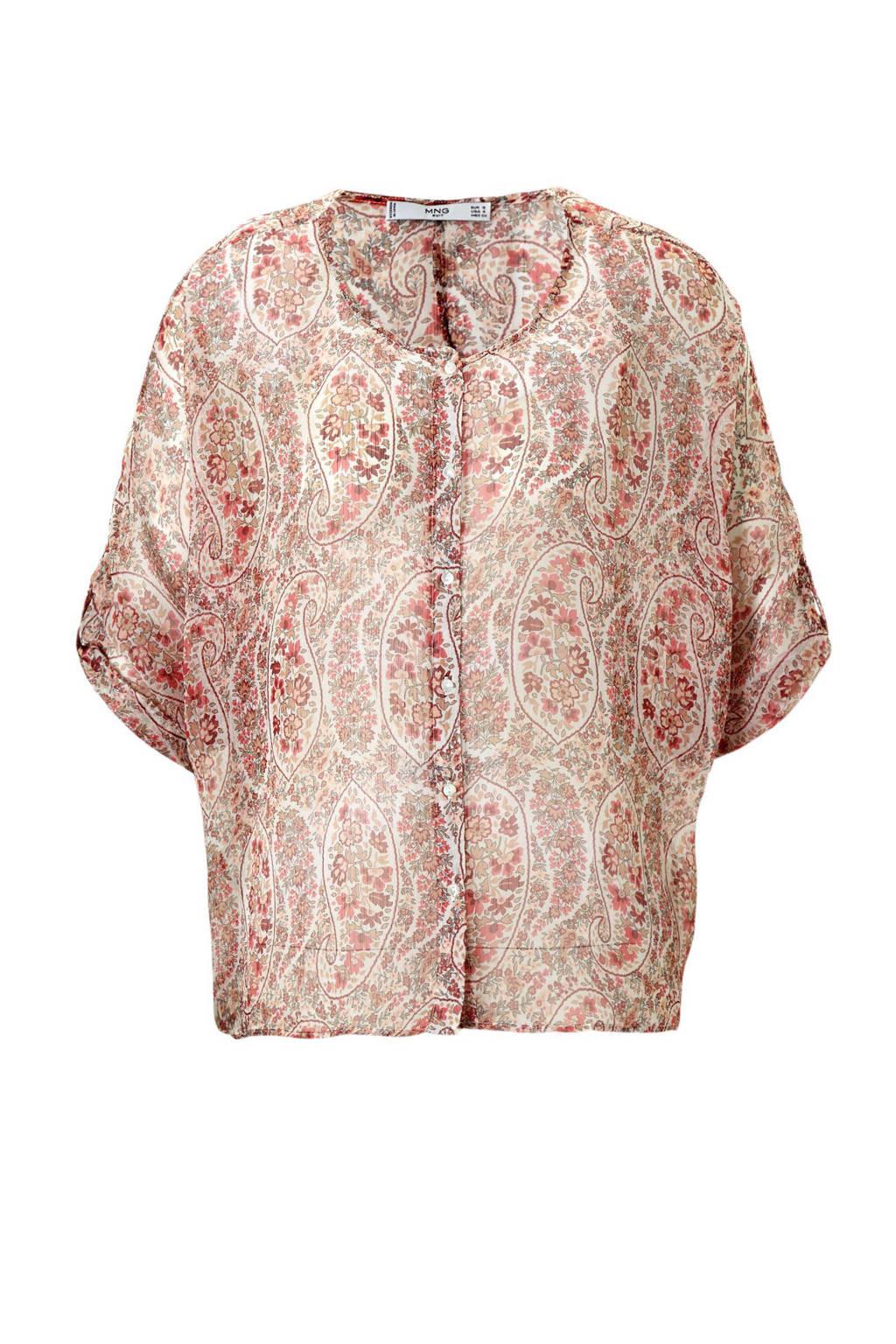 Mango blouse, Rood/roze
