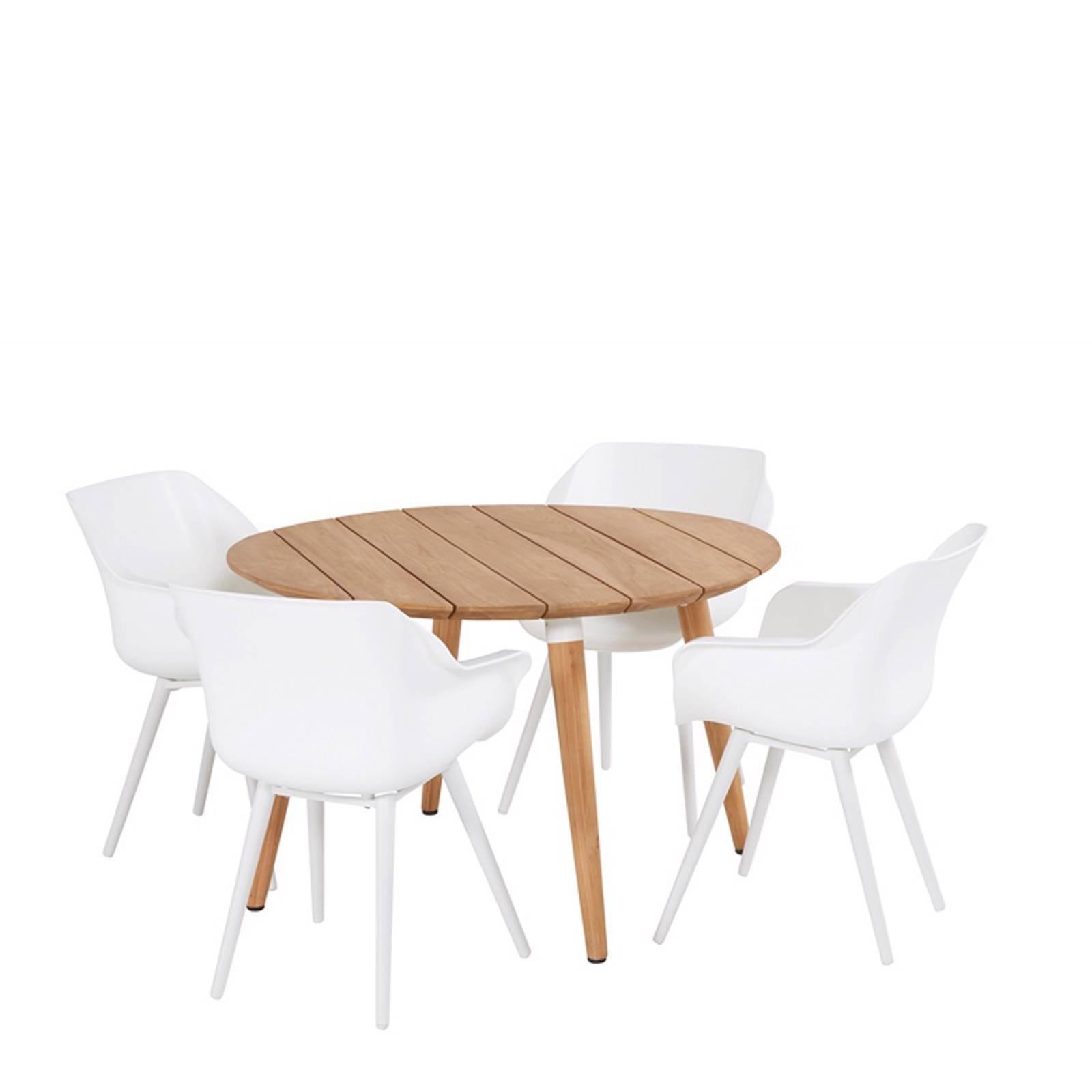 Ronde Tuintafel Hardhout.Ronde Tuintafel Sophie Studio O120 Cm