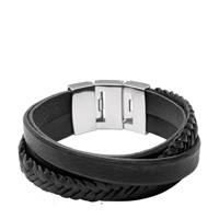 Fossil Vintage Casual Heren Armband JF02079040, Zwart