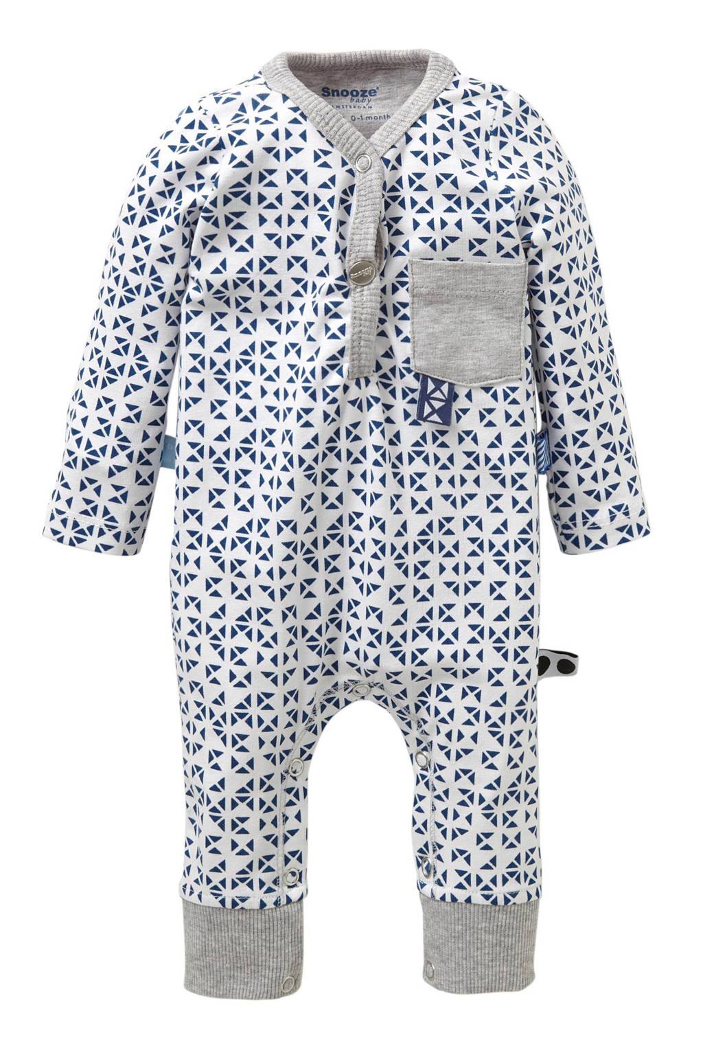 Snoozebaby newborn boxpak, Blauw/wit
