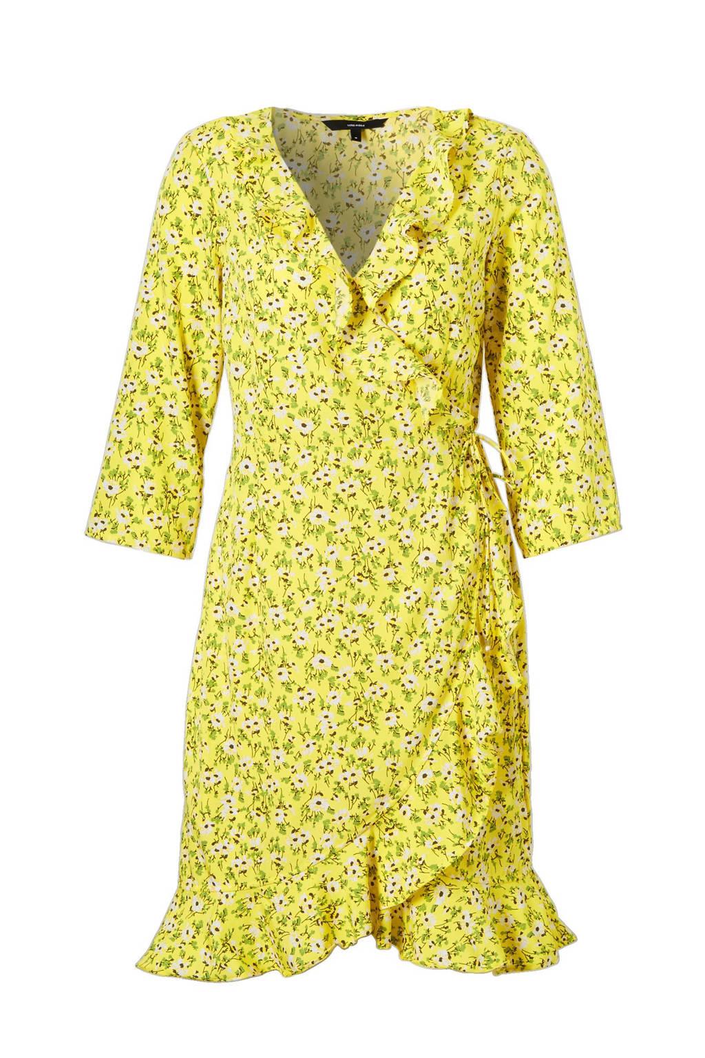 retro Discover exclusief assortiment wikkel jurk met ruches